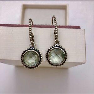Authentic Pandora emerald earrings